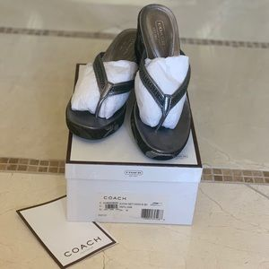 Coach•Lou Ann wedges• new in box•size 7.5